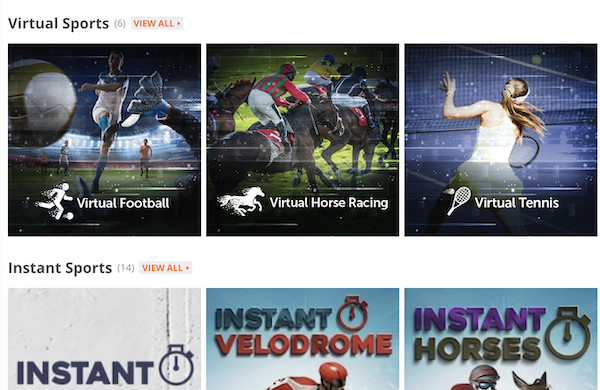 Betsson review sports screen overview