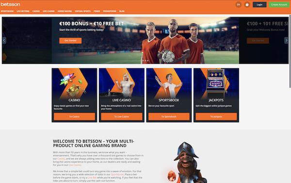 Betsson Review Website