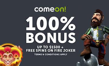 ComeOn - Get Your Casino Bonus Now!