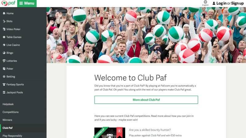 Paf casino Club Paf