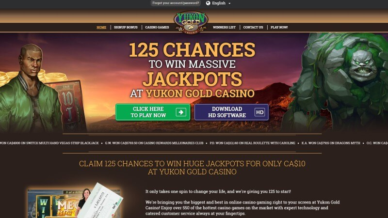 yukon gold casino canada review