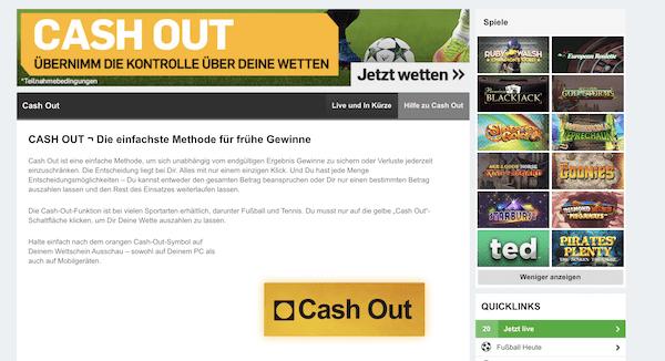 betfair Cash-Out