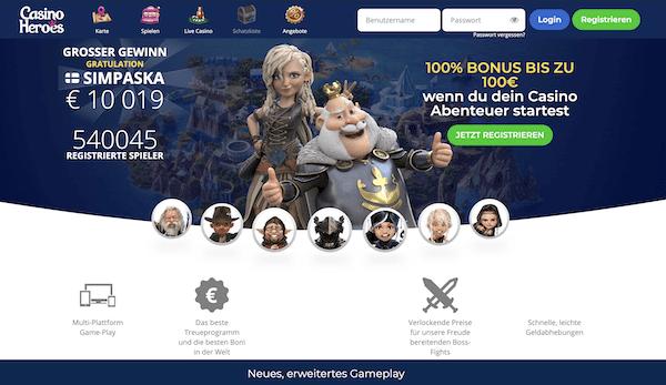 Casino Heroes Erfahrungen und Test