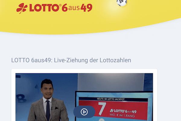 Lotto.de Live-Ziehung