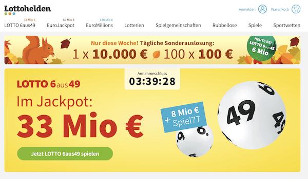 Lottohelden Gewinn auszahlen