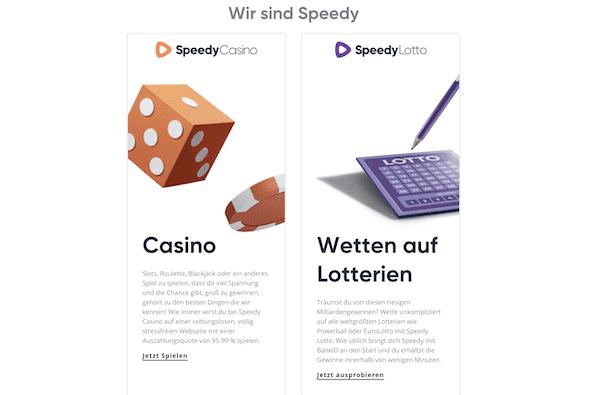 Speedy Casino Angebot