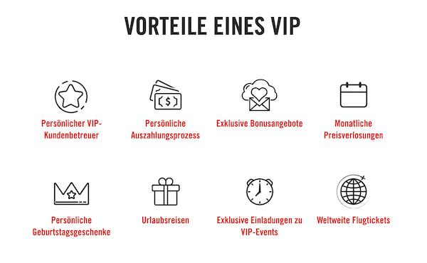 Vegas Hero VIP Vorteile