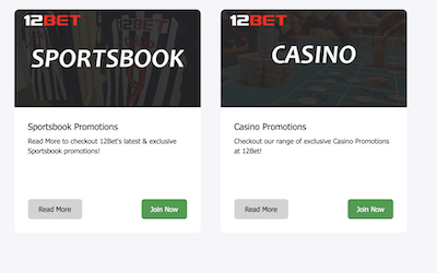 12bet review India