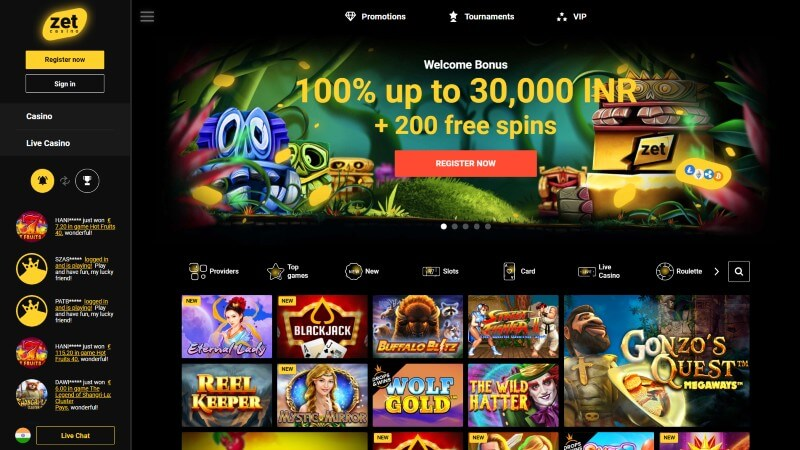 Zet Casino bonus offer
