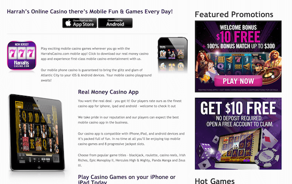 harrahs online casino bonus code